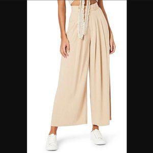 NWT Minkpink Taylah Wide Leg Pants in Natural Tan